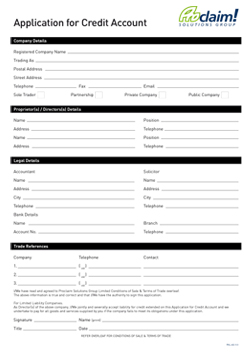 application for credit form